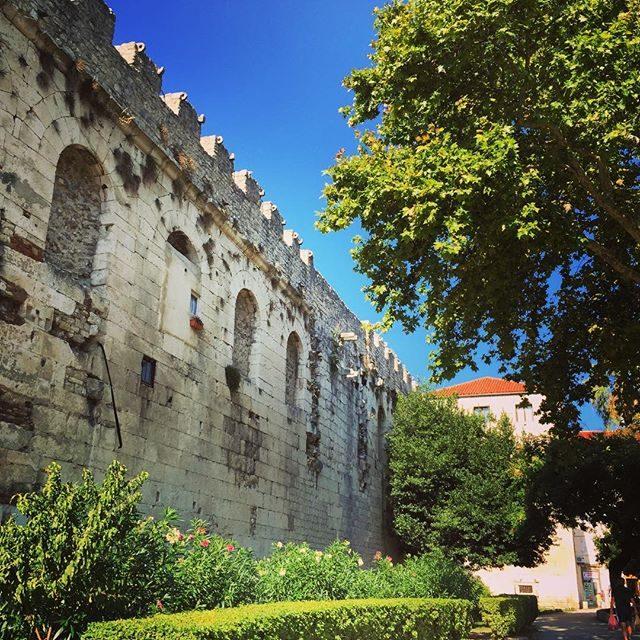 Palace walls in Split