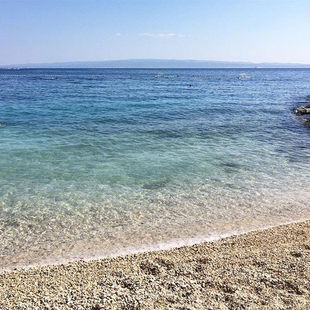Clear blue water at a Split beach