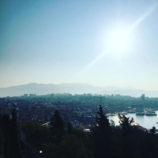 Nice view over Split from the lookout