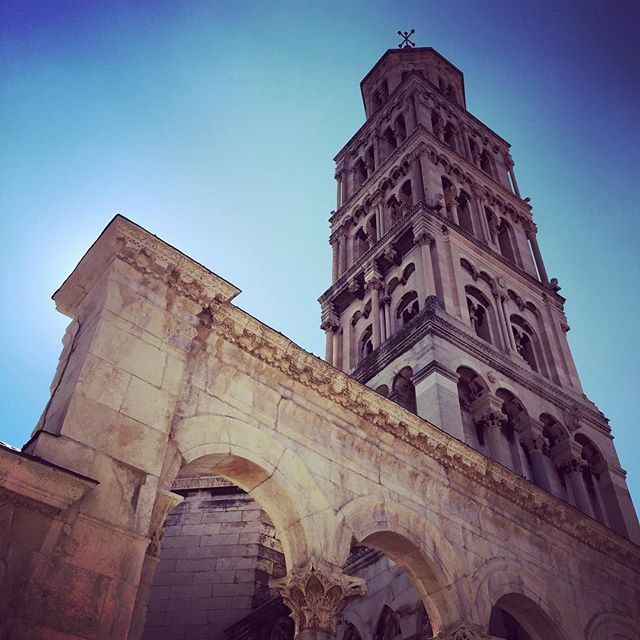 The bell tower in Split