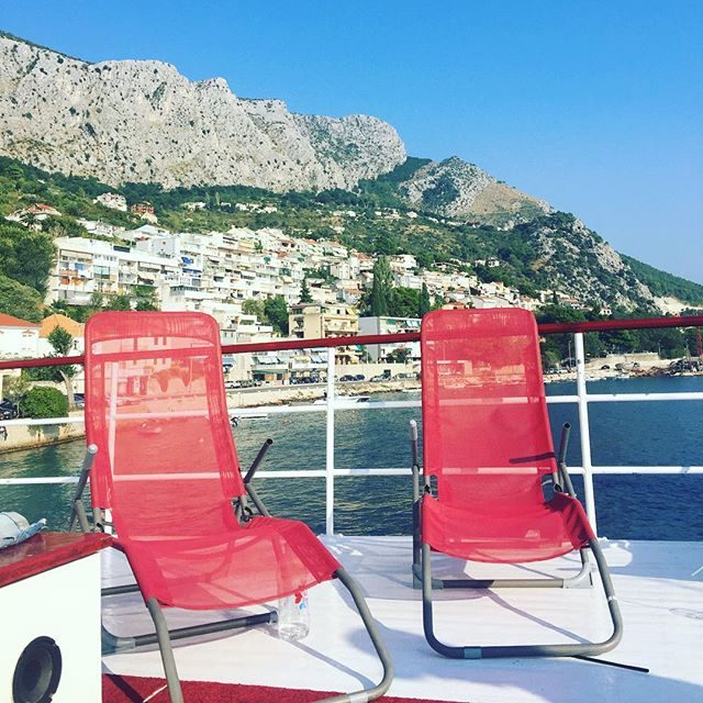 View of Omis from our boat
