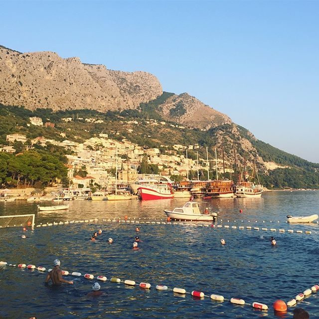 Local Water Polo game in Omis
