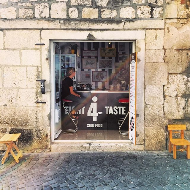 Our daily coffee spot in Split