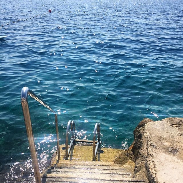 beautiful crystal water in Dubrovnik