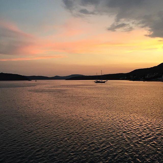 Sunset in Slano