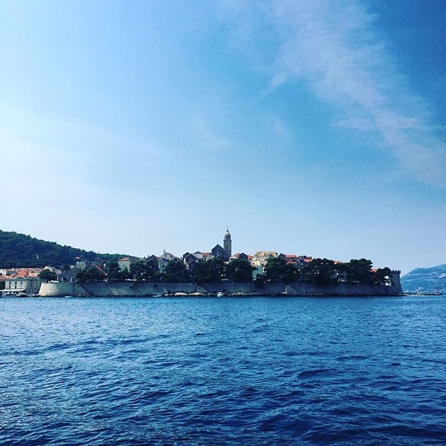 Korcula from the water