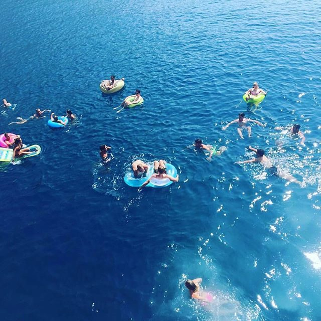 Swim stop on Sail Croatia