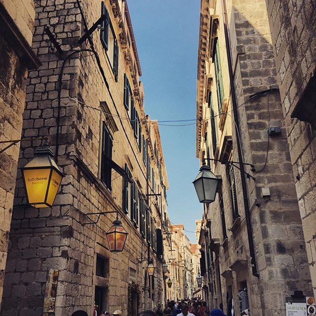 Lights in old town, Dubrovnik