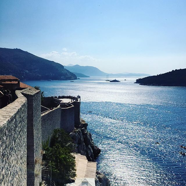 Coast from the wall in Dubrovnik