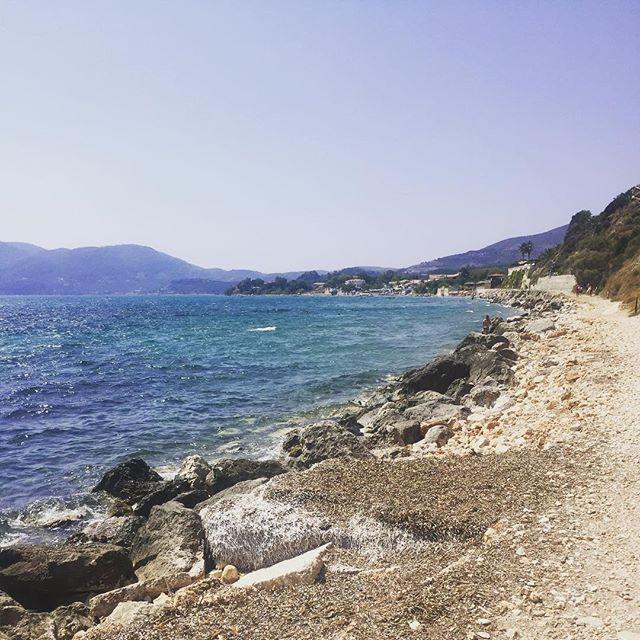 Looking over the beach of Agios Sostis