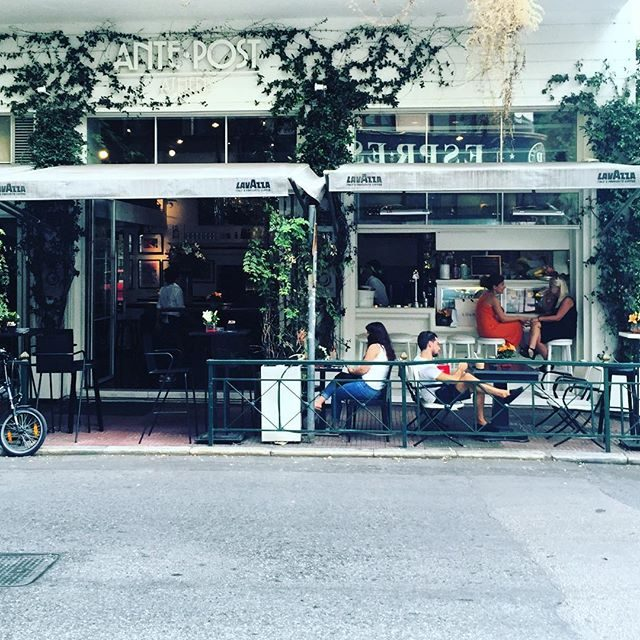 Funky cafe in Athens