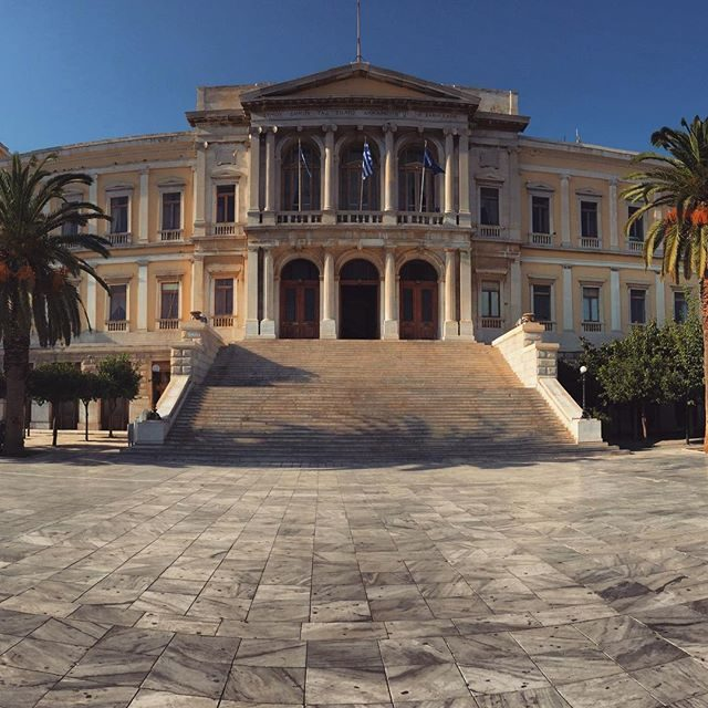 Syros old town square