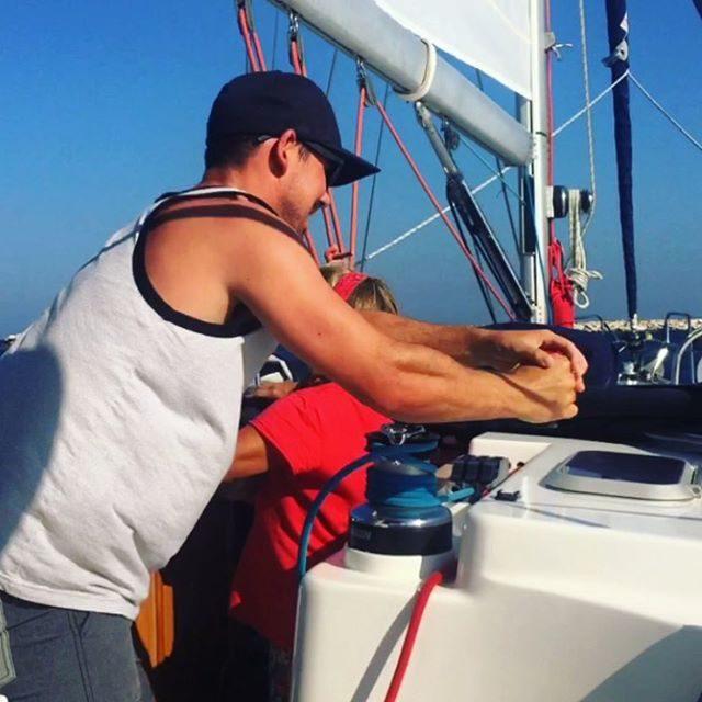 On the main sail