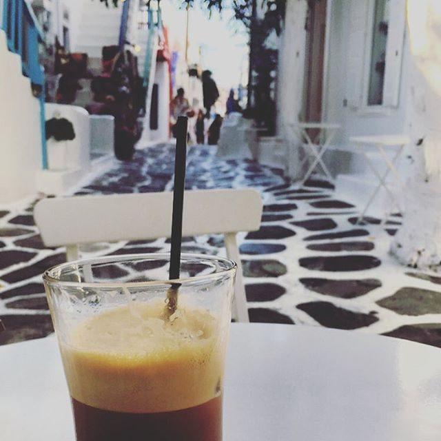 People watching and coffee break in Mykonos