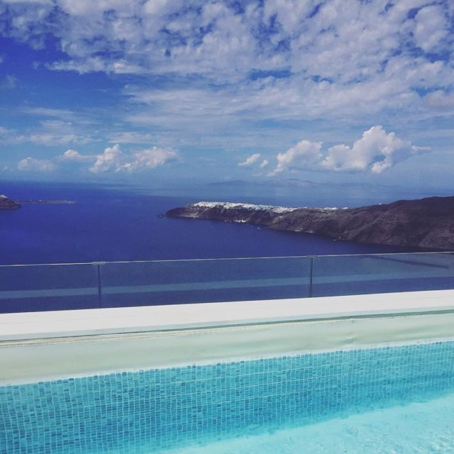 Rooftop pool at our villa