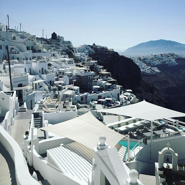 Fira in the distance