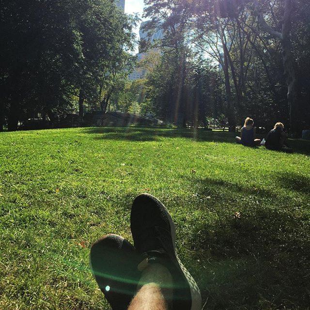 Kicking back in Central Park